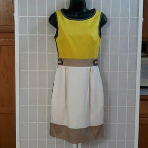 KAREN MILLEN Sexy Color Block Pencil Dress 4/36/8